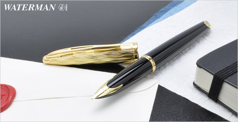 Перьевая ручка Waterman Carene Essential, цвет: Black GT, перо: F123