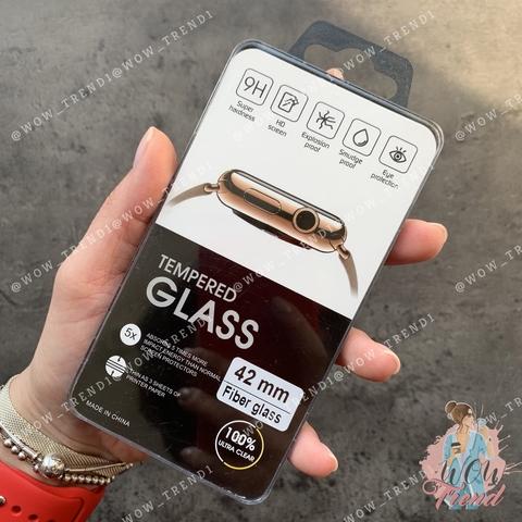 Стекло защитное 3D Full Fiber Apple watch 42mm /black/