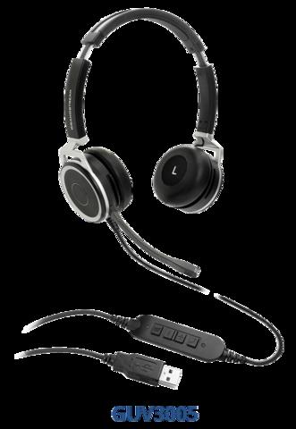 Grandstream GUV3005 - HD USB гарнитура, шумоподавление, индикатор занятости, алюминевый корпус, для ноутбука, компьютера, IP-телефона