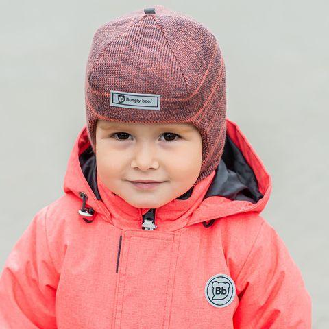 Шлем зимний вязаный