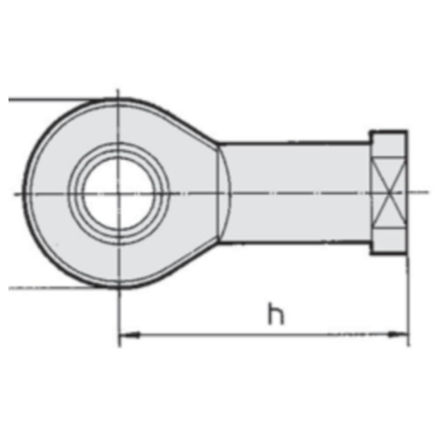 KJ36D  Шарнирный наконечник, внутр. резьба М36х2.0