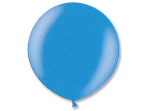 Большой воздушный шар металлик синий