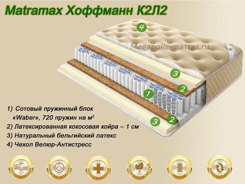 Матрас Матрамакс Хоффманн К2Л2 купить недорого от Megapolis-matras.ru