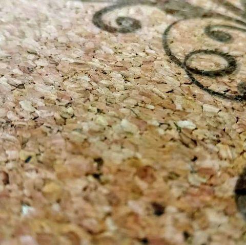 Коврик для йоги и медитации Cork из пробки и каучука 130*130 см