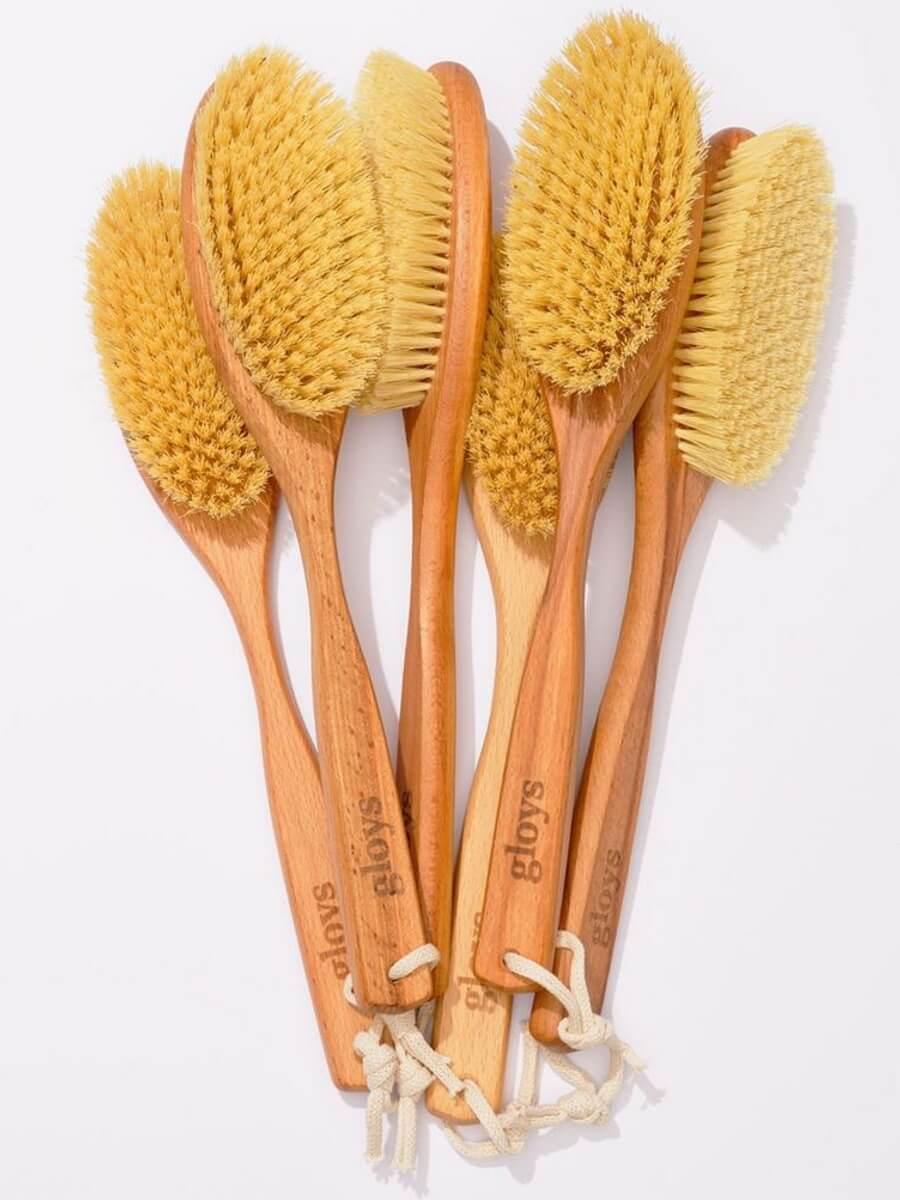 Gloys Cactus щетка для сухого массажа с волокнами кактуса 39 см