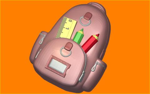 Школьный рюкзак. Форма для мыла пластиковая