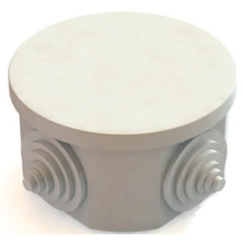 Распаячная коробка ОП D85х40мм, крышка, IP54, 4вх. TDM