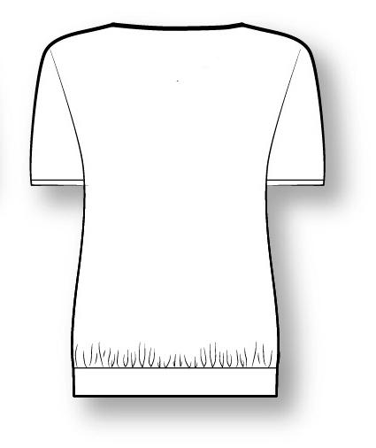 Лекала блузы с коротким рукавом