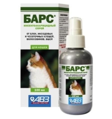 Барс инсектоакарицидный спрей для кошек    100 мл