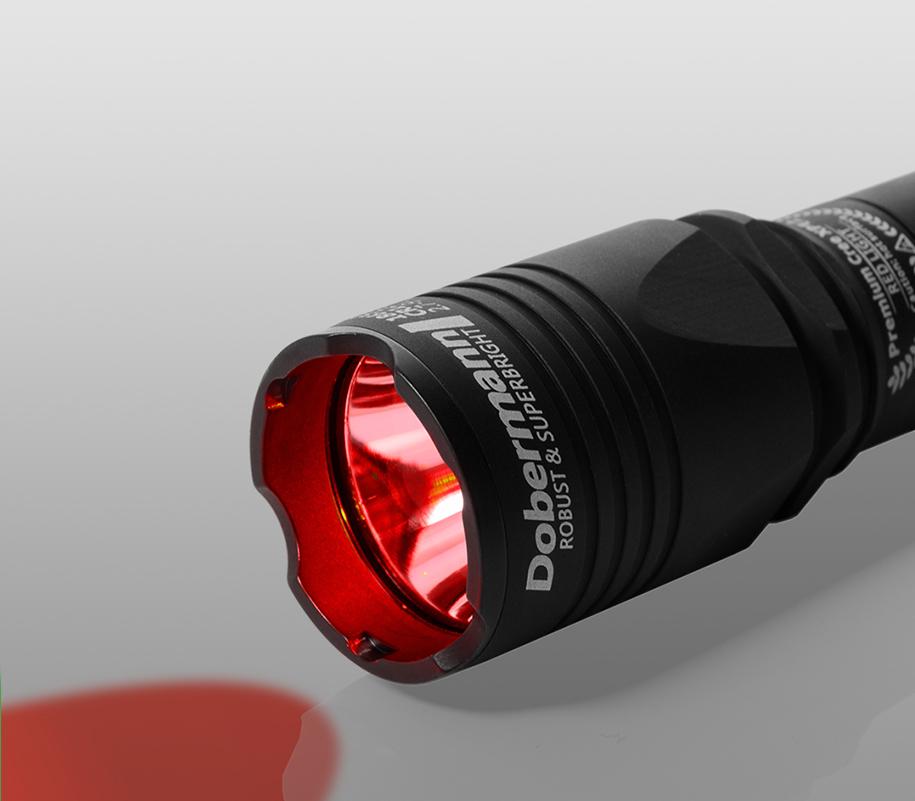 Тактический фонарь Armytek Dobermann (красный свет) - фото 1