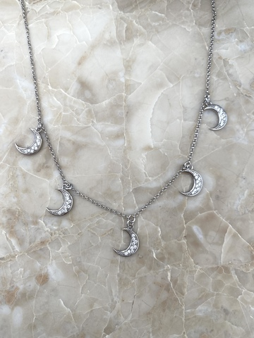 Колье Пять Полумесяцев из серебра