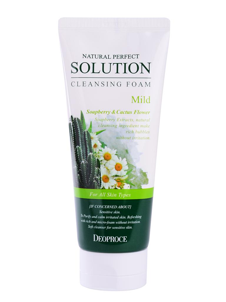 Очищение Пенка для умывания кактус, ромашка NATURAL PERFECT SOLUTION CLEANSING FOAM MILD 170g i28940_1484743525_5.jpg