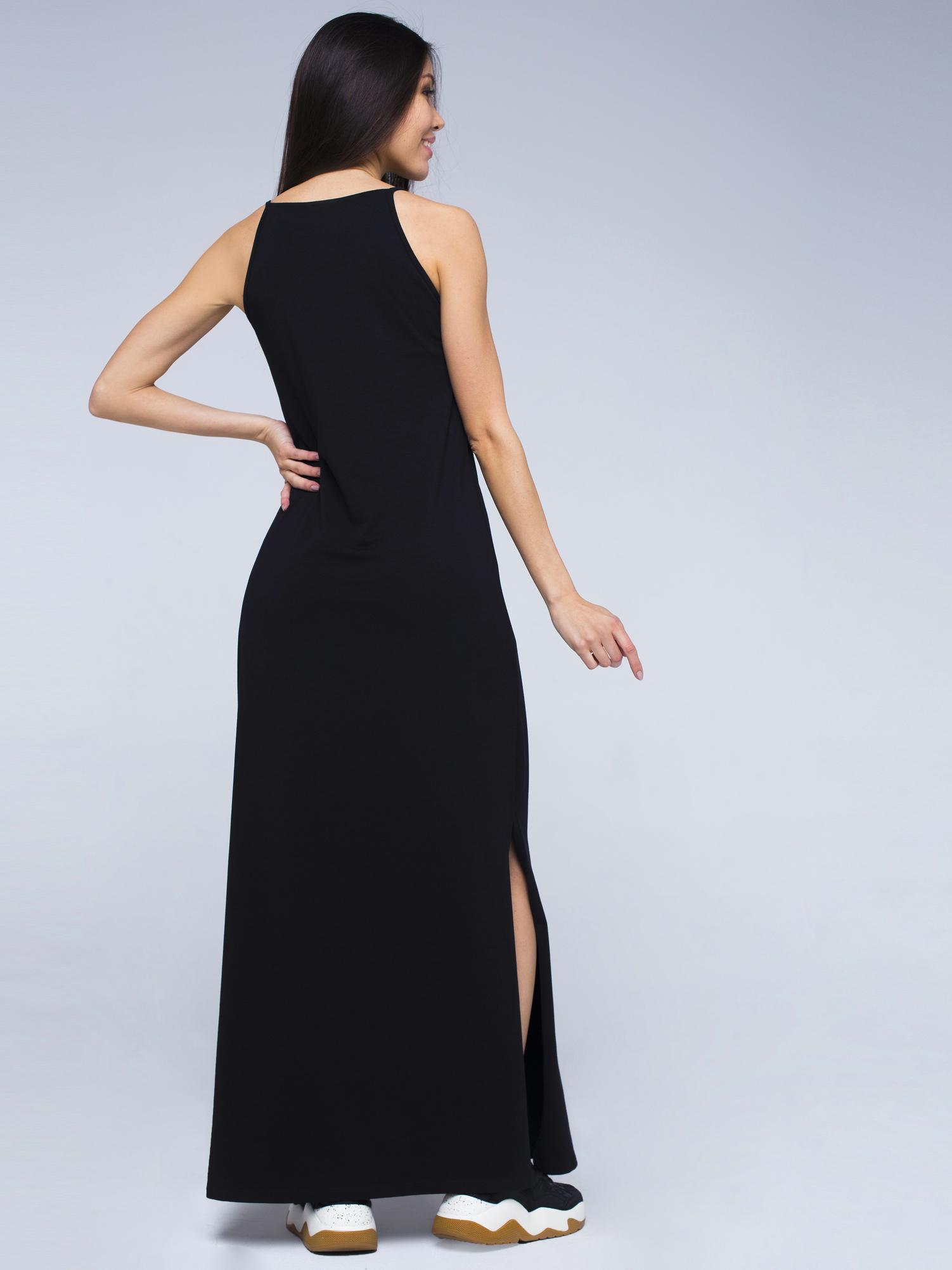 Платье хлопковое черное