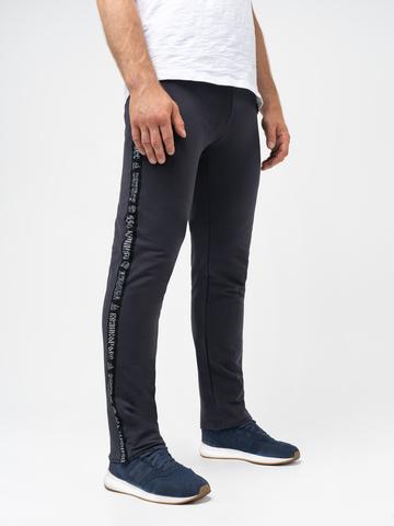 Спортивные штаны «Великоросс» цвета графит без манжета. Лёгкий футер