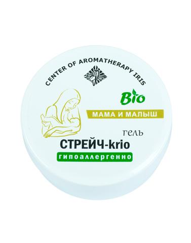 Охлаждающий гель лифтинг для кожи живота, бедер и груди «Стрейч-krio»,125 мл,Центр Ароматерапии «Ирис»