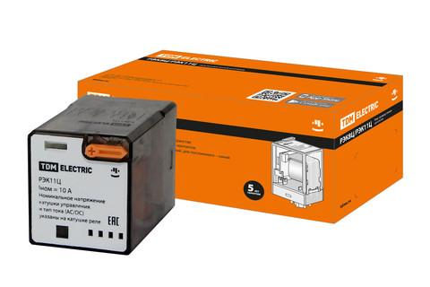 Реле РЭК8Ц/2 10А  12В AC (без разъема Р8Ц арт. SQ1503-0019) TDM