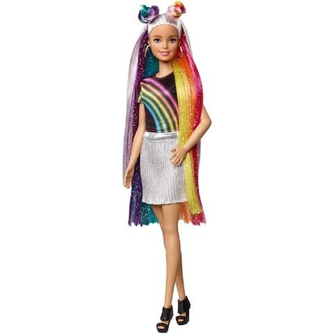 Барби с Блестящими Радужными Волосами