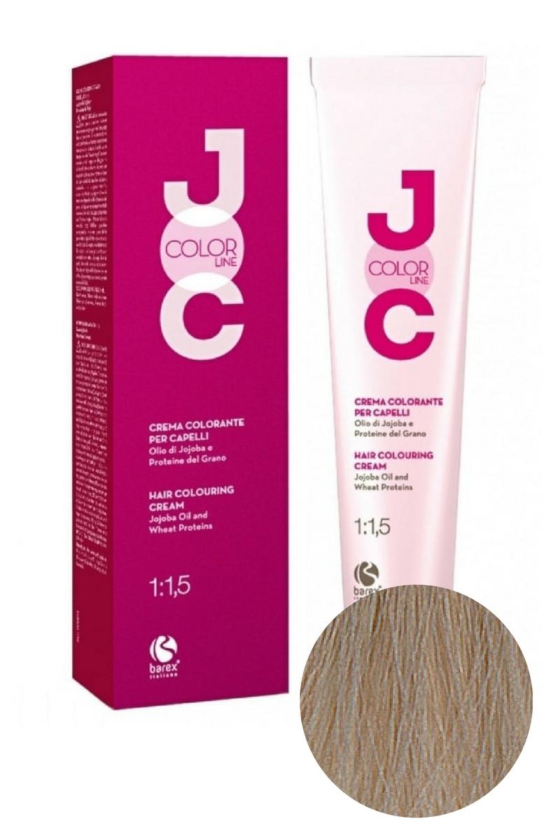 Крем-краска для волос 11.10 платиновый блондин пепельный JOC COLOR, Barex