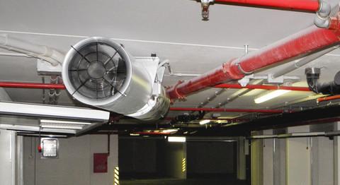 Проведение исследований эффективности работы системы  противодымной вентиляции