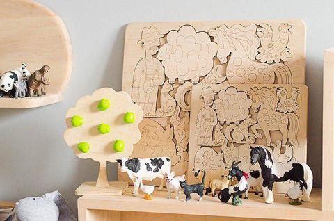 Деревянный пазл домашние животные