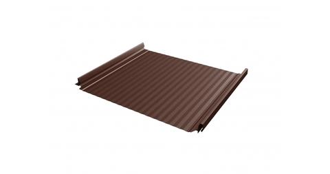 Фальцевая кровля Кликфальц Pro Gofr RAL 8017 Шоколад