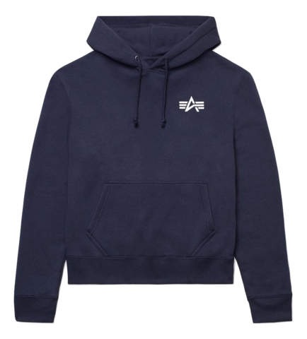 Толстовка Alpha Industries Small Logo Hoodie (Синяя)