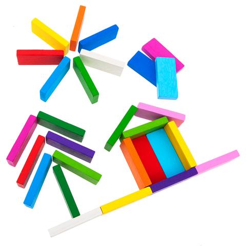 Цветные плашки Томик 28 деталей 6675