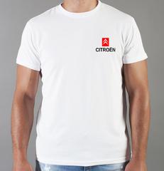 Футболка с принтом Citroen (Ситроен) белая 008