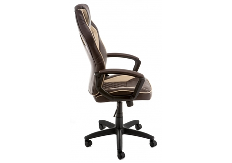 Офисное кресло для персонала и руководителя Компьютерное Raid коричневое 60*60*115 Черный /Коричневый