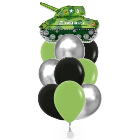 Фонтан воздушных шаров с гелием с танком