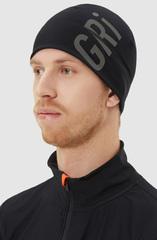 Элитная спортивная шапка Gri Темп черная