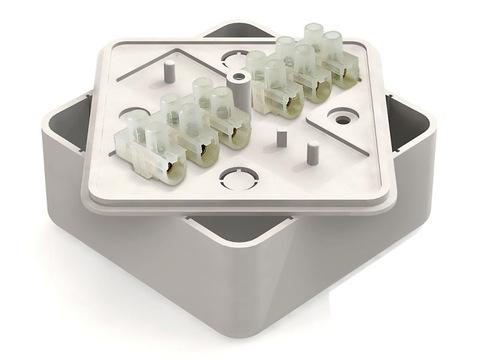 Коробка распаячная КР 100х100х44 ОП с клем. колодкой белая IP40 TDM