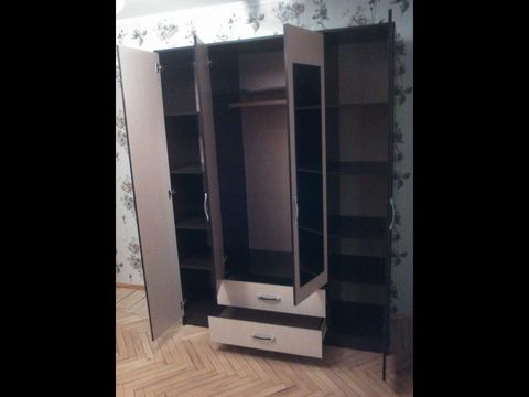 Шкаф Ронда 4-х дверный цвет: бел.дуб/венге