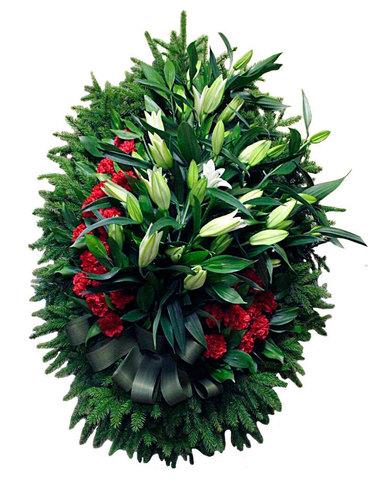 Венок из живых цветов заказной ВЖ-15