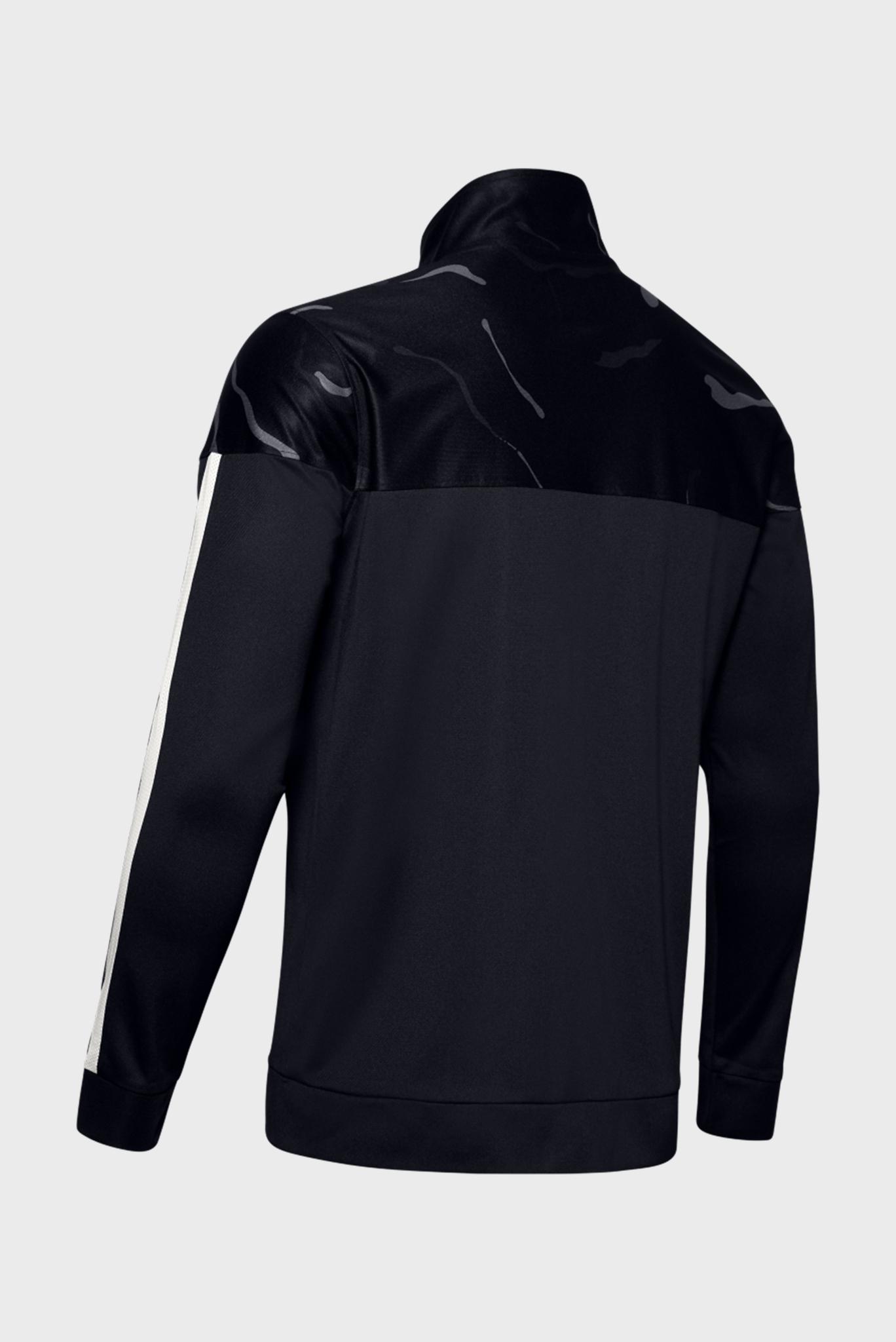 Мужская черная спортивная кофта SPORTSTYLE PIQUE PRINTED TRACK JACKET Under Armour