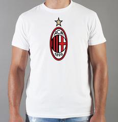 Футболка с принтом FC ACM Milan (ФК Милан) белая 001