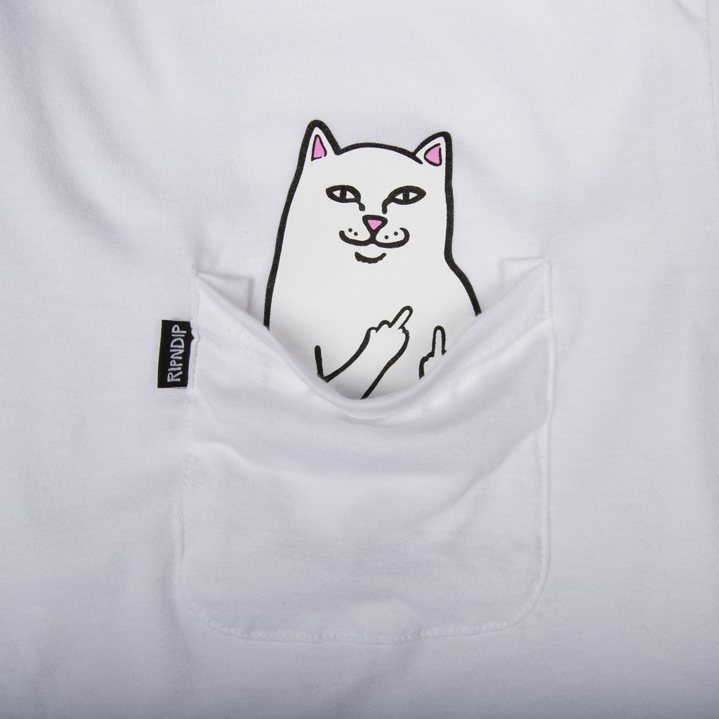 Футболка RIPNDIP Lord Nermal Pocket Tee (White)