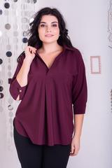 Айріс. Жіноча блуза великих розмірів. Бургунді