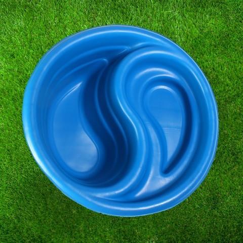 Пруд садовый 80л Инь Янь 820х330мм синий