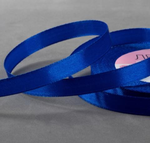 Лента атласная,цвет синий,10мм*23±1м