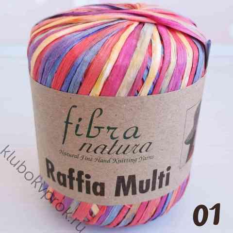 FIBRA NATURA RAFFIA MULTI 117-01, Розовый/касный/желтый/голубой