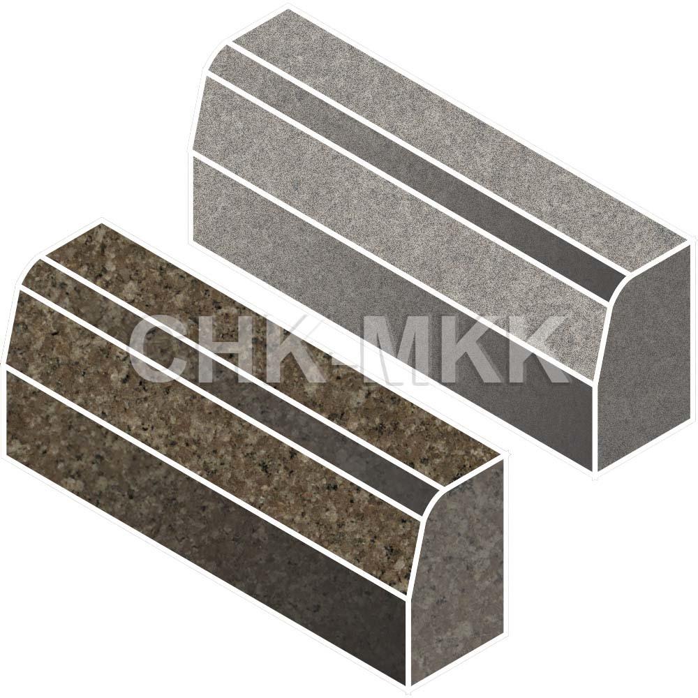 Бордюрный камень из Куртинского гранита