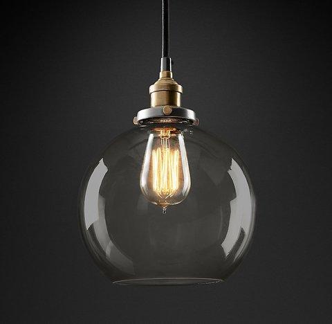 Подвесной светильник копия 20th C. Factory Filament Smoke Glass Caf? Pendant by Restoration Hardware
