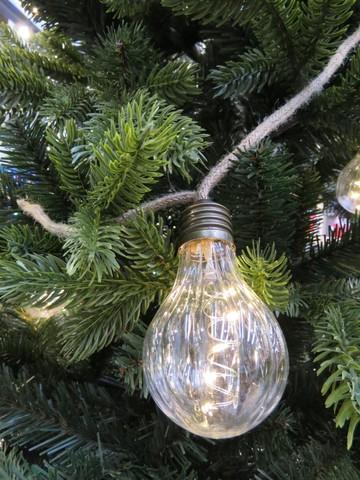 Гирлянда ретро на бечевке с рифлеными лампочками Luca Lighting теплый белый свет (10 ламп, длина гирлянды 315 см)