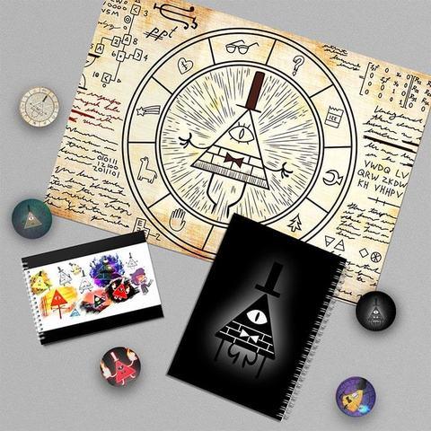 Билл Сайфер: набор из плаката А3, блокнота, тетради и 5 значков