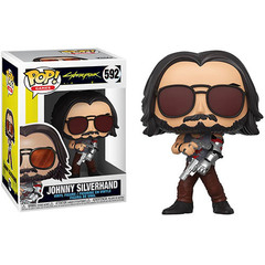 Johnny Silverhand Cyberpunk 2077 (Glow in the Dark) Funko Pop!    Джонни Сильверхэнд c оружием (Светящийся)