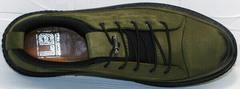 Осенние мужские туфли кеды из кожи Luciano Bellini C2801 Nb Khaki.