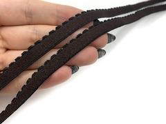 Резинка отделочная шоколад 10 мм (цв. 111)