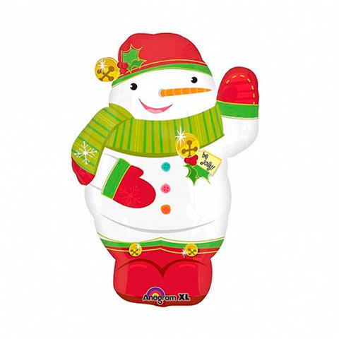 Шар фигура Снеговик в варежках