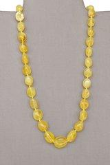 бусы из жёлтого янтаря
